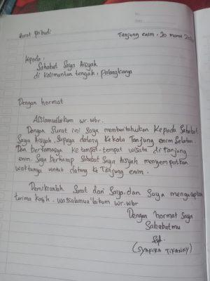Contoh Surat Pribadi Untuk Teman 1
