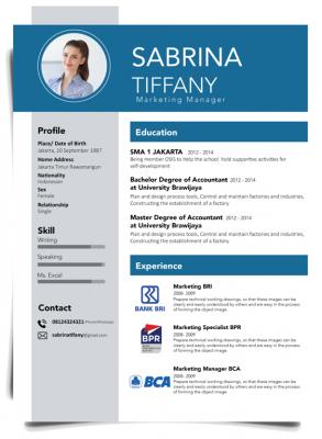 Contoh CV Lamaran Kerja yang Baik dan Benar